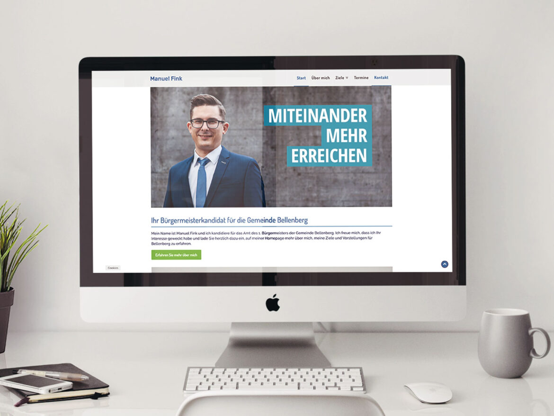 Bürgermeisterkandidat Website