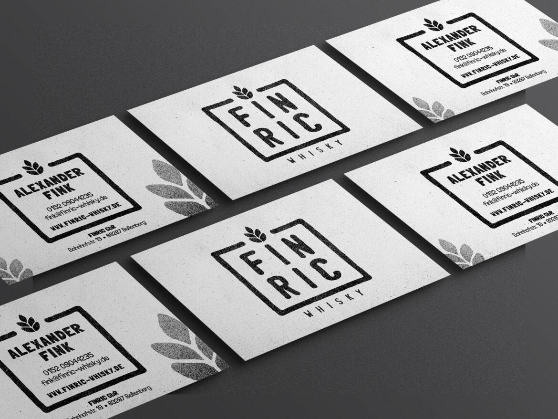 FINRIC Whisky - Visitenkarten - Printdesign