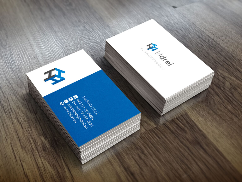 Printdesign: Visitenkarten - Hdrei Planungsbüro
