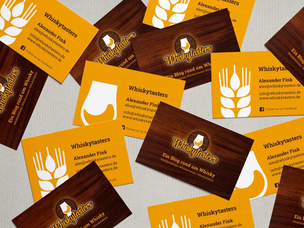 Printdesign: Visitenkarten - Whiskytasters