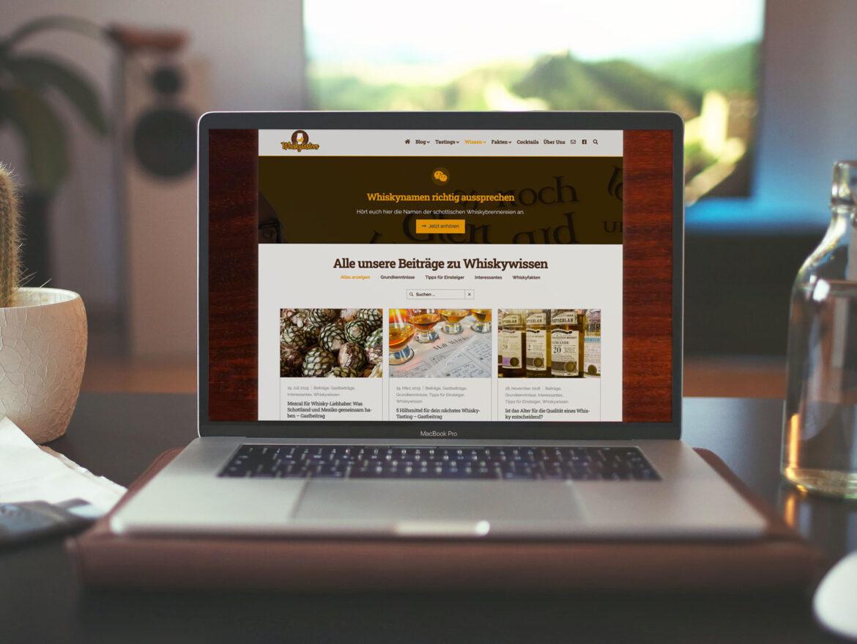 Whiskytasters - Whiskyblog - Webdesign