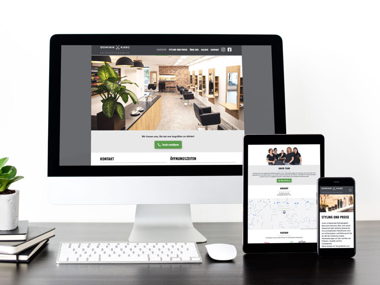 Webdesign - Dominik Karg Friseurhandwerk - Gestaltung, Planung, Konzeption der neuen Website