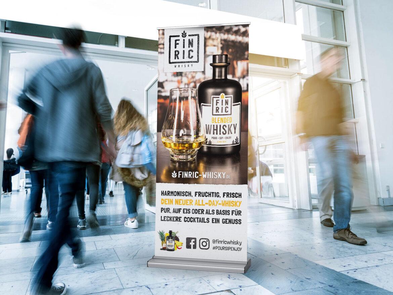 Roll-Up - Druck, Printdesign - FINRIC Whisky