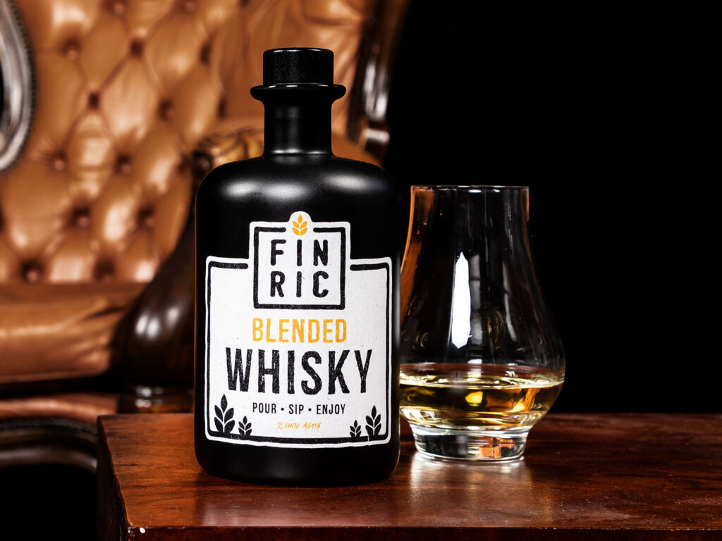 FINRIC Whisky Etikett - Printdesign